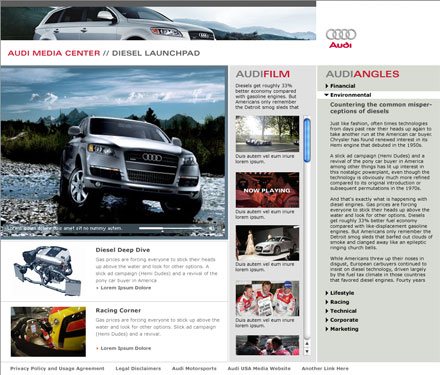 Audi Diesel Launchpad